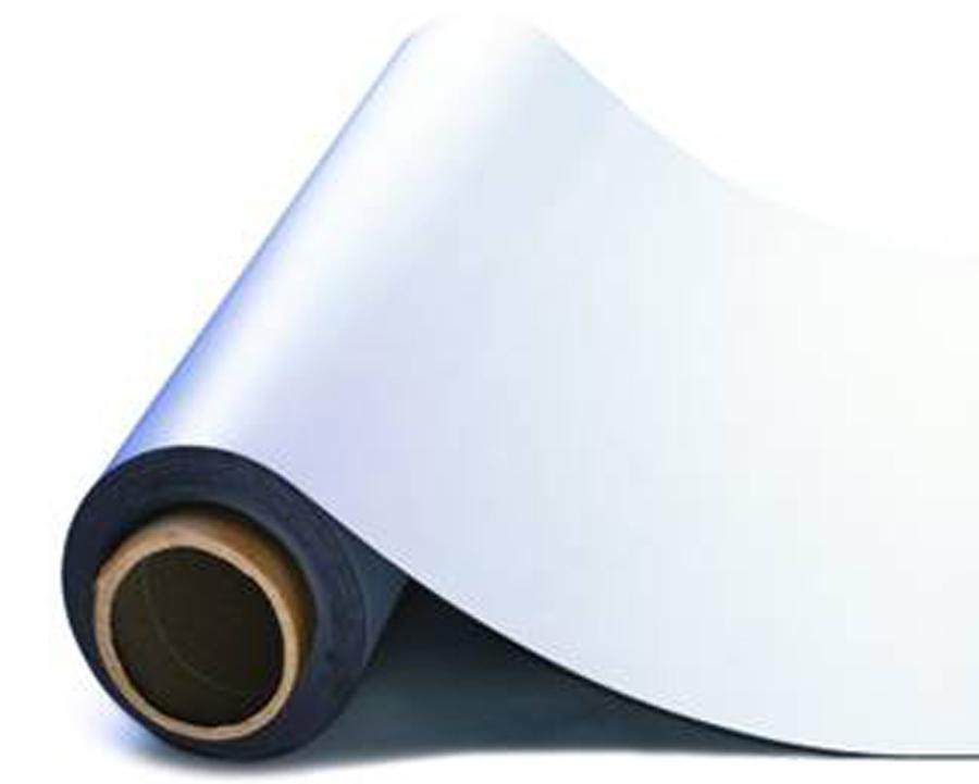 Мягкое полимерное железо c белым ПВХ покрытием (рулон)